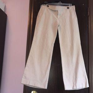 Gap khaki pants. Size 8R. Hip slung fit. Flared